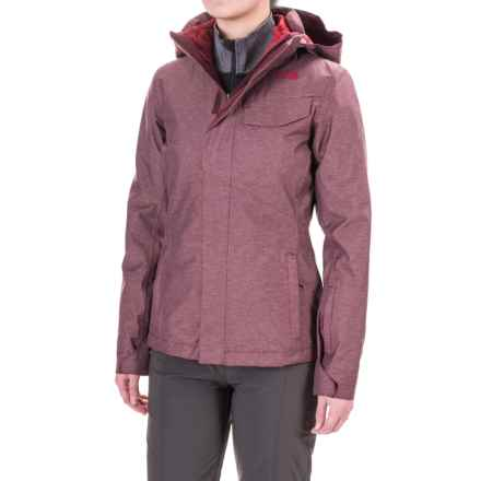 The North Face Helata Triclimate® Hooded Jacket - Waterproof, Insulated, 3-in-1 (For Women) in Deep Garnet Red - Closeouts