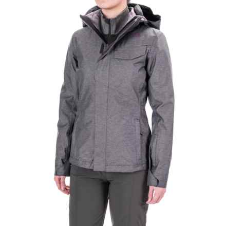 The North Face Helata Triclimate® Hooded Jacket - Waterproof, Insulated, 3-in-1 (For Women) in Rabbit Grey - Closeouts