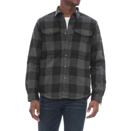 The North Face Hike-In Sherpa Shirt Jacket - Fleece Lined (For Men) in Asphalt Grey Plaid - Closeouts