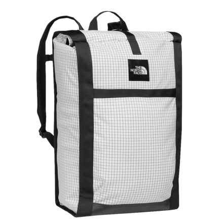 The North Face Homestead Roadsoda 43L Backpack in Tnf White Ripstop/Tnf Black - Closeouts