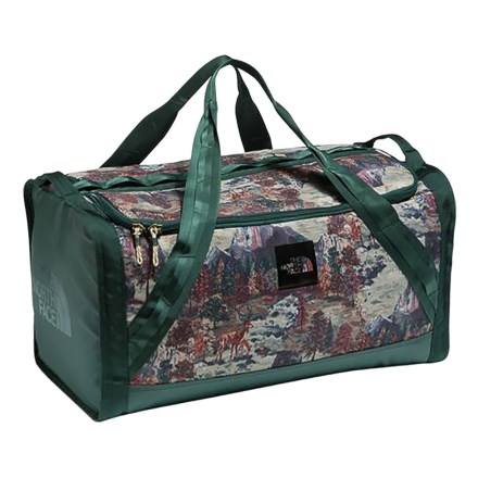 The North Face Homestead Snackle Box 52L Duffel Bag in Darkest Spruce  Yosemite Sofa Print  7b28fcc0316f6