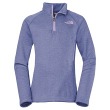 The North Face HW Agave Fleece Jacket - Zip Neck (For Little and Big Girls) in Starry Purple - Closeouts