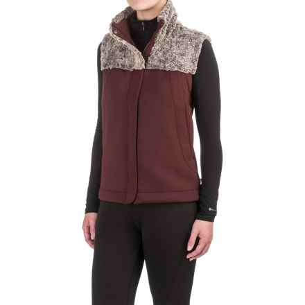 The North Face Hybrination Vest (For Women) in Deep Garnet Red Black Heather - Closeouts