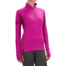 The North Face Impulse Active Shirt - Zip Neck, Long Sleeve (For Women) in Lumnous Pink Heather/Dramtc Plum - Closeouts