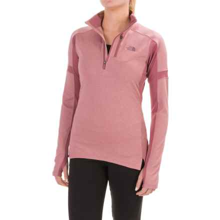 The North Face Impulse Active Shirt - Zip Neck, Long Sleeve (For Women) in Nostalgia Rose/Renaissance Rose - Closeouts
