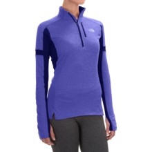 The North Face Impulse Active Shirt - Zip Neck, Long Sleeve (For Women) in Starry Purple/Garnet Purple - Closeouts