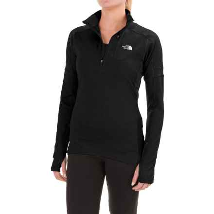 The North Face Impulse Active Shirt - Zip Neck, Long Sleeve (For Women) in Tnf Black - Closeouts