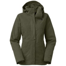 The North Face Inlux Jacket - Waterproof, Insulated (For Women) in New Taupe Green Heather - Closeouts