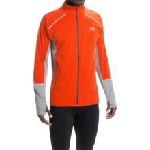 The North Face Isolite Jacket (For Men) in Acrylic Orange/Monument Grey Heather - Closeouts