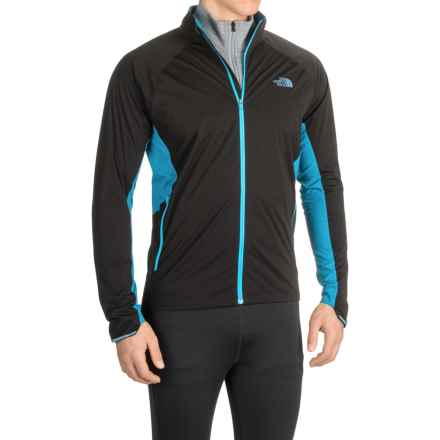 The North Face Isolite Jacket (For Men) in Tnf Black/Banff Blue - Closeouts