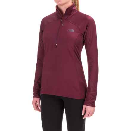 The North Face Isotherm Shirt - Zip Neck, Long Sleeve (For Women) in Deep Garnet Red - Closeouts