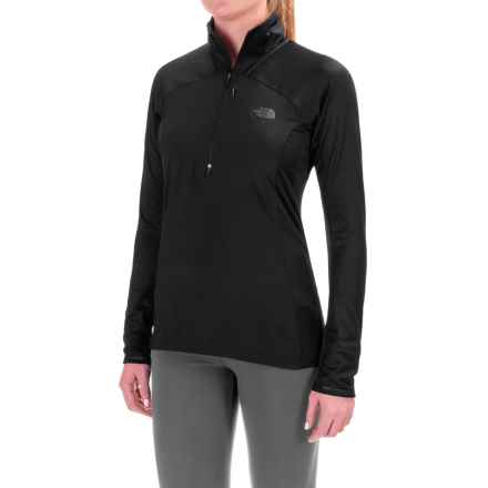 The North Face Isotherm Shirt - Zip Neck, Long Sleeve (For Women) in Tnf Black - Closeouts