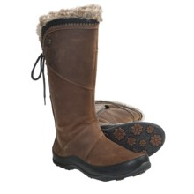 The North Face Janey II Luxe Winter Boots (For Women) in Camel Brown/Tnf Black - Closeouts