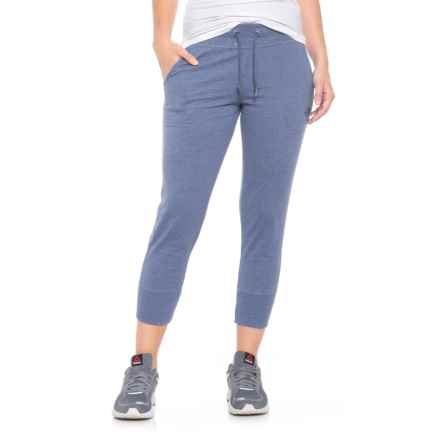 The North Face Jersey Capris (For Women) in Coastal Fjord Blue Heather - Closeouts