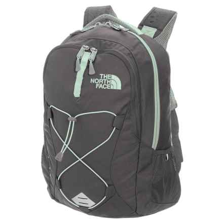 The North Face Jester Backpack (For Women) in Asphalt Grey Dark Heather/Subtle Green - Closeouts