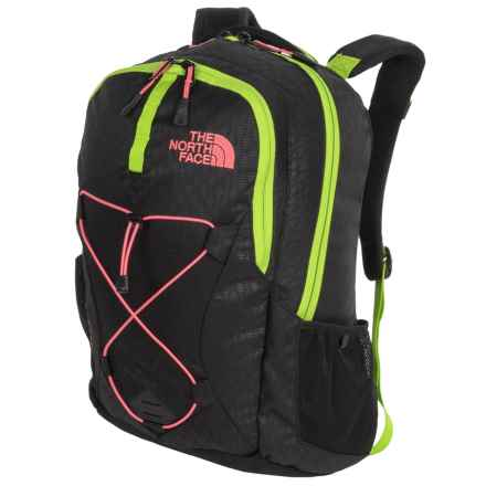 The North Face Jester Backpack (For Women) in Tnf Black Emboss/Calypso Coral - Closeouts