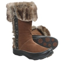 The North Face Jozie II Winter Boots - Waterproof, Insulated (For Women) in Camel Brown/Tnf Black - Closeouts
