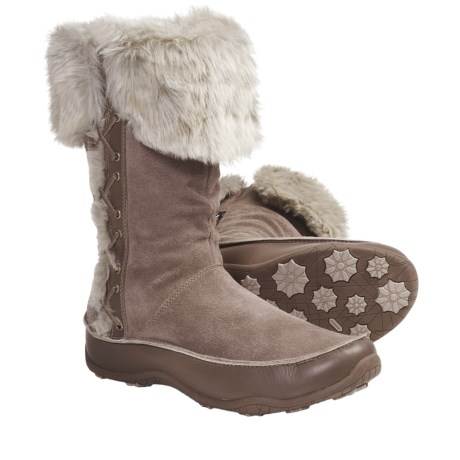 The North Face Jozie II Winter Boots - Waterproof, Insulated (For Women) in Mud Spring Brown/Fossil Ivory