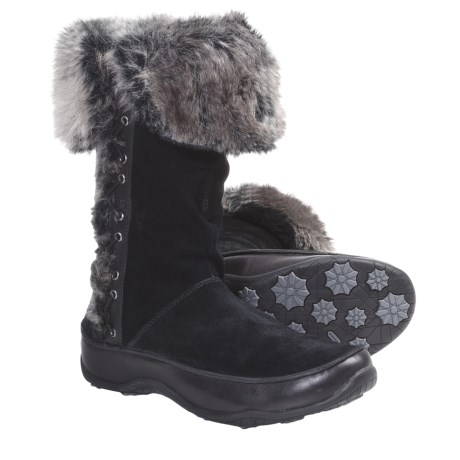 The North Face Jozie II Winter Boots - Waterproof, Insulated (For Women) in Tnf Black/Zinc Grey