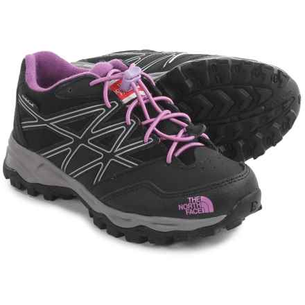 The North Face JR Hedgehog Low Hiking Shoes - Waterproof (For Little and Big Kids) in Tnf Black/Lupine - Closeouts