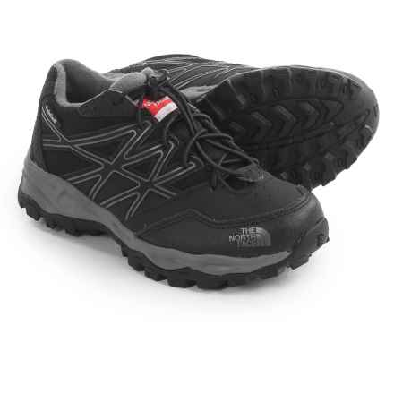The North Face JR Hedgehog Low Hiking Shoes - Waterproof (For Little and Big Kids) in Tnf Black/Zinc Grey - Closeouts