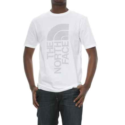 The North Face Jumbo Half Dome T-Shirt - Short Sleeve (For Men) in Tnf White/Asphalt Grey - Closeouts