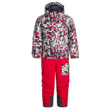 The North Face Jumpsuit - Waterproof, Insulated (For Toddlers) in Tnf Red Pixel Print - Closeouts