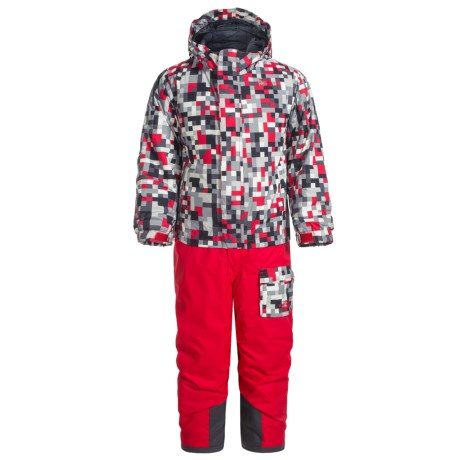 The North Face Jumpsuit - Waterproof, Insulated (For Toddlers) in Tnf Red Pixel Print