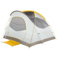 The North Face Kaiju 4 Tent - 4-Person, 3-Season in Castor Grey/Arrow Wood Yellow - Closeouts