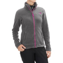 The North Face Khumbu Fleece Jacket (For Women) in Charcoal Grey Heather/Luminous Pink - Closeouts