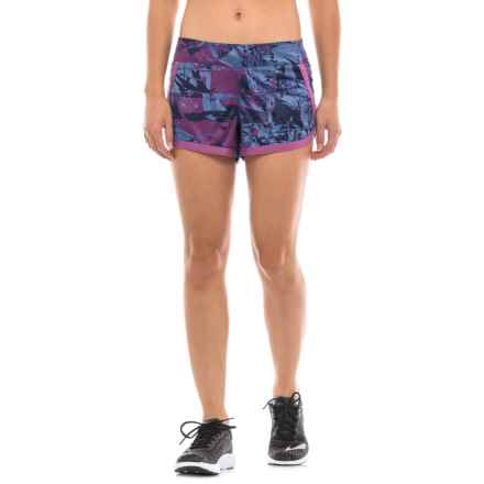 The North Face Kick Up Dust Shorts - Built-In Briefs (For Women) in Amparo Blue Print/Amparo Blue - Closeouts