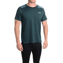 The North Face Kilowatt Crew Shirt - Short Sleeve (For Men) in Depth Green Heather/Asphalt Grey - Closeouts