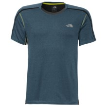 The North Face Kilowatt Crew Shirt - Short Sleeve (For Men) in Diesel Blue Heather/Asphalt Grey - Closeouts