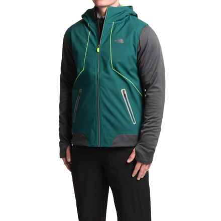 The North Face Kilowatt Jacket - Hooded (For Men) in Depth Green/Asphalt Grey - Closeouts