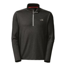 The North Face Kilowatt Pullover Shirt - Zip Neck, Long Sleeve (For Men) in Asphalt Grey Heather/Tnf Black - Closeouts
