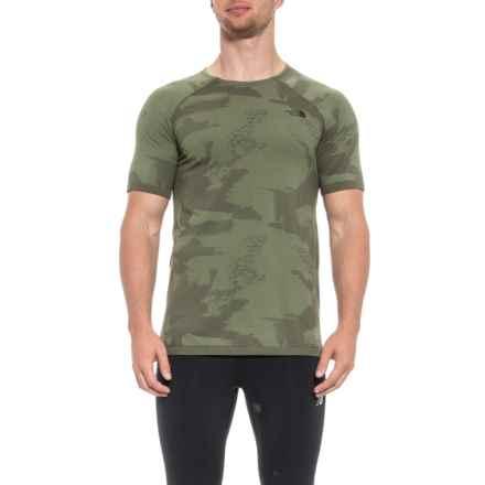 d211c361c52996 The North Face Kilowatt Seamless Shirt - Short Sleeve (For Men) in Grape  Leaf