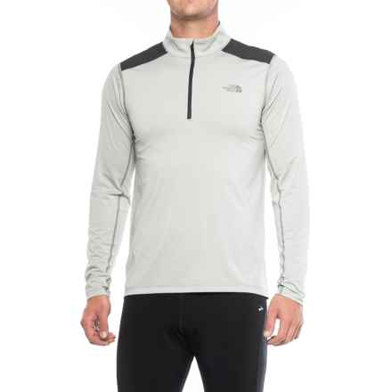 The North Face Kilowatt Shirt - Zip Neck, Long Sleeve (For Men ) in Wrought Iron Heather - Closeouts