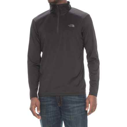 The North Face Kilowatt Shirt - Zip Neck, Long Sleeve (For Men) in Tnf Black - Closeouts