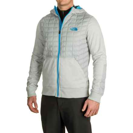 The North Face Kilowatt ThermoBall® Hooded Jacket - Insulated (For Men) in High Rise Grey/Blue Aster - Closeouts