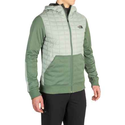 The North Face Kilowatt ThermoBall® Hooded Jacket - Insulated (For Men) in Wrought Iron/Duck Green - Closeouts