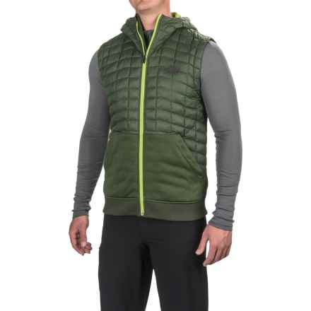 The North Face Kilowatt ThermoBall® Hooded Vest - Insulated, Full Zip (For Men) in Climbing Ivy Green/Chive Green - Closeouts