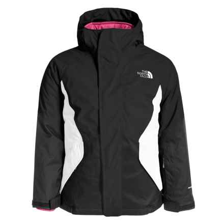 The North Face Kira Triclimate® Ski Jacket - Waterproof, Insulated, 3-in-1 (For Little and Big Girls) in Tnf Black - Closeouts