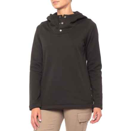 The North Face Knit Stitch Fleece Pullover Shirt - Long Sleeve (For Women) in Tnf Black - Closeouts