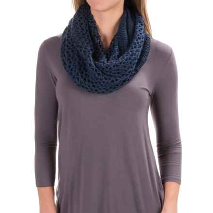 The North Face Knitting Club Scarf in Cosmic Blue - Closeouts