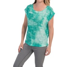 The North Face Kokomo Burnout T-Shirt - Short Sleeve (For Women) in Billiard Green - Closeouts