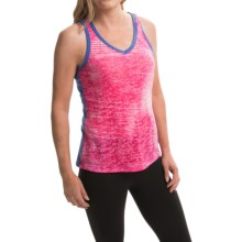 The North Face Kokomo Burnout Tank Top - V-Neck (For Women) in Glo Pink/Coastline Blue - Closeouts