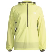 The North Face Krakatoa Hooded Jacket - Zip Neck (For Women) in Exotic Green/Graphite Grey - Closeouts