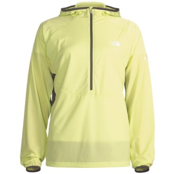 The North Face Krakatoa Hooded Jacket - Zip Neck (For Women) in Exotic Green/Graphite Grey