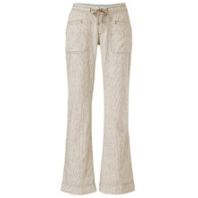 The North Face Larison Linen Pants (For Women) in Dune Beige/Vintage White Stripe - Closeouts