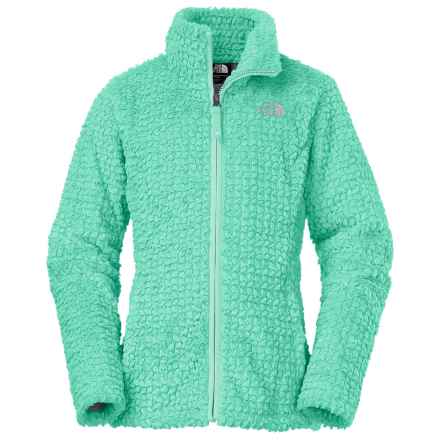 The North Face Laurel Fleece Jacket (For Little and Big Girls) in Ice Green - Closeouts